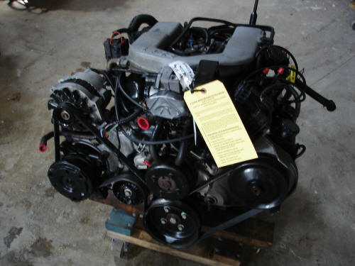 3.4L-V6 Pullout shown with T5 transmission